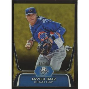 Javier Baez 2012 Bowman Platinum Prospects Gold Refractors 25/50 #BPP85 coletre
