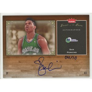 Sam Perkins 05/06 Fleer Greats of the Game Auto Gold 04/10 coletre