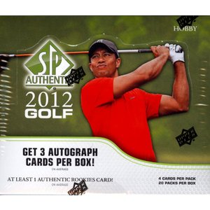 未開封ボックス 2012 SP Authentic Golf Hobby Box|coletre