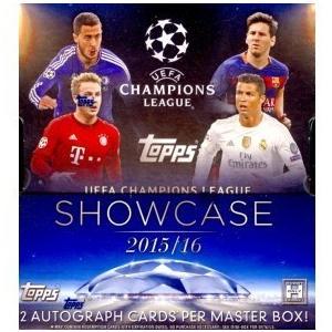 未開封ボックス 15/16 Topps UEFA Champions League Showcase Soccer Hobby Box|coletre