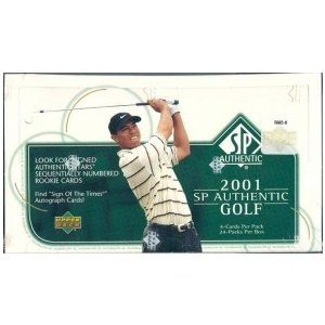 未開封ボックス 2001 SP Authentic Golf Hobby Box|coletre