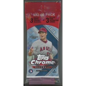 未開封ボックス 2018 Topps Chrome Baseball Value Pack|coletre