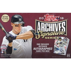 未開封ボックス 2018 Topps Archives Signature Series Baseball Active Player Edition Box|coletre