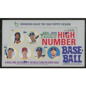 未開封ボックス 2018 Topps Heritage High Number Baseball Hobby Box|coletre