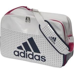 アディダス (adidas)   エナメル ショルダーLサイズ BIP41-AP3359ホワイト/カレッジネイビー|collabo