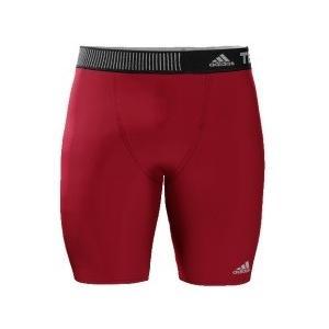 adidas メンズ アディダスインナーパンツ  テックフィット ショートタイツ  S27178レッド|collabo