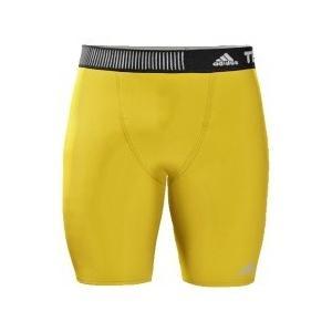 adidas メンズ アディダスインナーパンツ  テックフィット ショートタイツ  S27178イエロー|collabo
