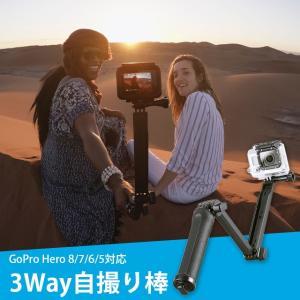 GoPro 3way 自撮り棒 アクセサリー 三脚 / ゴープロ 棒 gopro hero8 her...
