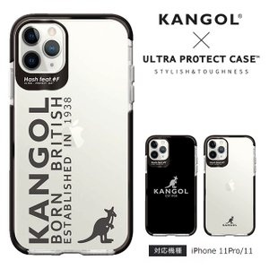 スマホケース iPhone11/11 Pro カンゴール 耐衝撃 ウルトラプロテクト ケース Hash feat #F クリア 透明 KANGOL  おしゃれ|collaborn-plus