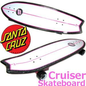 Santa Cruz Skate Pink Shark Cruzer Skateboard Deck (サンタクルズ クルーザー スケートボード)|collc