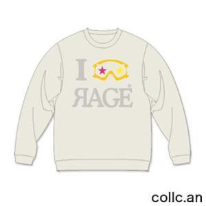 RAGE EYE INTERFACE レイジアイインターフェイス スエットトレーナー カラー:CREAM collc