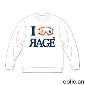 RAGE EYE INTERFACE レイジアイインターフェイス スエットトレーナー カラー:WHITE collc