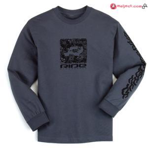 ネット限定価格 RIDE S/L Tシャツ R LOGO CHARCOAL [ライド]  collc