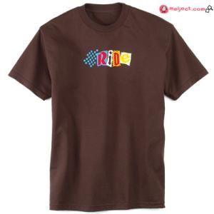 ネット限定価格 RIDE S/S Tシャツ カラー BROWN 「AGENDA」 collc