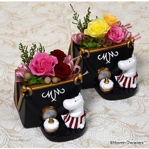 プリザーブドフラワー ムーミンキャラクター ムーミンママ 敬老の日 誕生日祝い 結婚祝い 贈り物|collecolle