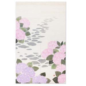 京都洛柿庵 手描きのれん あじさい小径 初夏の飾り 新築 引っ越し 開店祝い|collecolle