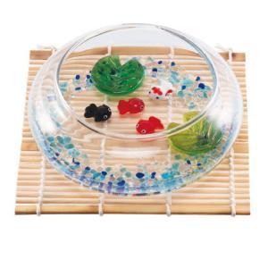 夕涼みセット 彩り金魚 コースター付き夏の飾り お部屋インテリア 涼しげなガラス製品|collecolle