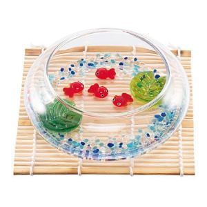 夕涼みセット 金魚の仲間 コースター付き夏の飾り お部屋インテリア 涼しげなガラス製品|collecolle