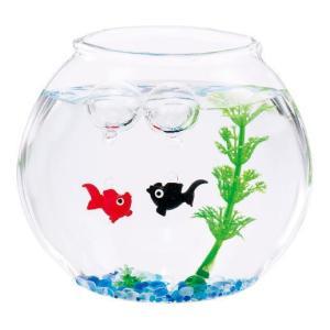 はんなり金魚セット 赤&黒夏の飾り お部屋インテリア 涼しげなガラス製品|collecolle