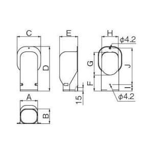 因幡電工/イナバ スリムダクト LD ウォールコーナー LDW-70-I/LDW70I アイボリー 10個セット|collectas|02