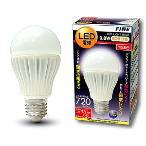 ALL-WAYS FiNE 高輝度LED電球 E26 9.8W 電球色相当 FLED98L|collectas