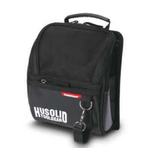 ペンギンエース HUSOLID TOOLGEAR HT-003 作業用フタ付腰袋 M|collectas