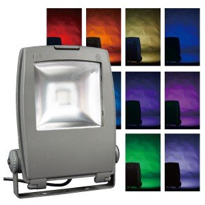 Jefcom・ジェフコム/DENSAN・デンサン LEDフルカラー投光器 PDS-C01-40FL|collectas
