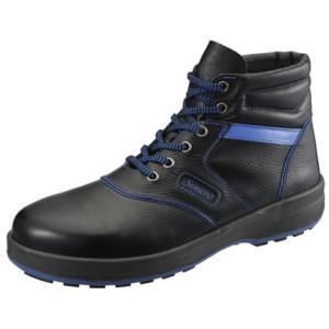 SIMON・シモン 安全靴 編上靴 SL22-BL黒/ブルー 26.0cm 1700250|collectas