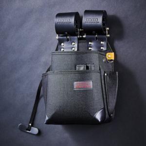 KNICKS/ニックス チェーン式特殊ナイロン製腰袋 自在型 ブラック KB-211NSDX|collectas