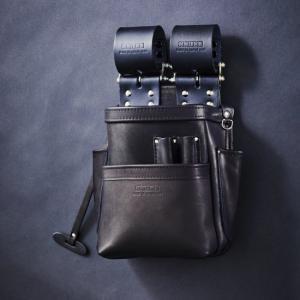 KNICKS・ニックス 自在型チェーンタイプ総グローブ革2段腰袋 KB-201SPDX|collectas