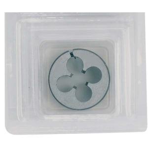 イチネンミツトモ 調整ネジ付ダイス M12×1.75mm ダイス径φ25mm 合金工具鋼 22226|collectas
