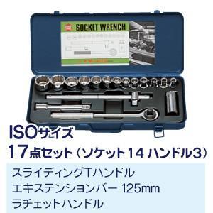 マーベル ソケットレンチセット M-417S|collectas