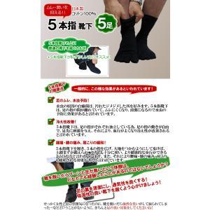 5本指 靴下 メンズ ソックス 五本指靴下 五本指  靴下セット 綿100% 消臭加工 水虫対策 5本指ソックス|collection20|02