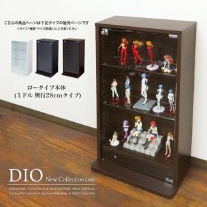 コレクションラック DIO ディオ 本体 ミドル ロータイプ 鍵付 幅46cm 奥行28cmタイプ 中型|collectioncasestore