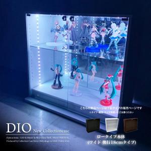 コレクションラック DIO 本体 ワイド ロータイプ 浅型|collectioncasestore