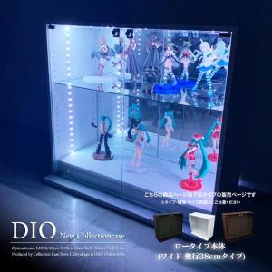 コレクションラック DIO 本体 ワイド ロータイプ 深型|collectioncasestore