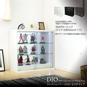 コレクションラック DIO 引き戸 本体 ワイド ロータイプ 深型 奥行38cm|collectioncasestore