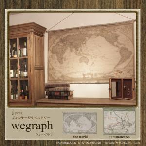 ヴィンテージ タペストリー wegraph 世界地図...