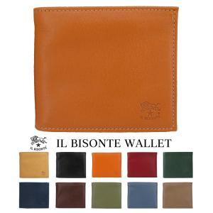 イルビゾンテ IL BISONTE 二つ折り財布 小銭入れ無し C0437|collectioncasestore