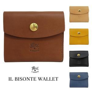 イルビゾンテ IL BISONTE 三つ折り財布 小銭入れ無し C1158|collectioncasestore