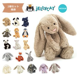 jellycat ぬいぐるみ  福袋 2個セット jellycat ぬいぐるみ ジェリーキャット バシュフル bashful M|collectioncasestore