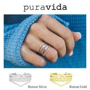 Pura Vida プラ ヴィダ リング Retreat Silver Gold|collectioncasestore