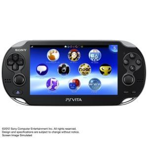 PS Vita 本体  Wi‐Fiモデル クリスタル・ブラック (PCH-1000 ZA01)※画面傷アリ・USBケーブル無しのため特価 (管理:470003)|collectionmall