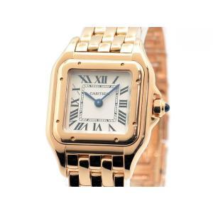 カルティエ レディース パンテール ドゥ カルティエ ウォッチ SM WGPN0006 K18PG ホワイト文字盤 クオーツ 腕時計 中古 送料無料|collectionshiba