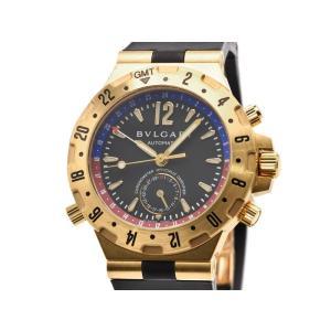 [3年保証] ブルガリ メンズ ディアゴノ プロフェッショナル GMT GMT40G K18YG OH/新品仕上済 黒文字盤 自動巻き 腕時計 中古 送料無料 collectionshiba