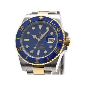 [3年保証] ロレックス メンズ サブマリーナーデイト 116613GLB ランダム番 K18YG ダイヤインデックス 自動巻き 腕時計 中古 送料無料|collectionshiba
