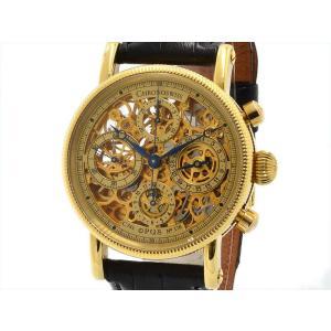クロノスイス メンズ オーパス スケルトン CH7521 K18YG クロノグラフ 金無垢 新品仕上済み 自動巻き 3年保証 腕時計 中古 送料無料|collectionshiba