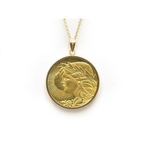 NISSANコインヘッド K24YG K18YG 新品仕上げ済 創業50周年 1933〜1983年 日産 記念メダル ペンダントヘッド 中古 送料無料 collectionshiba