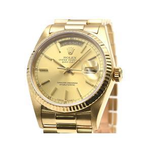 [3年保証] ロレックス メンズ デイデイト 18038 9番 K18YG OH/新品仕上済 ゴールド文字盤 イエローゴールド 自動巻き 腕時計 中古 送料無料|collectionshiba