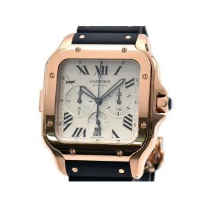[3年保証] カルティエ メンズ サントスドゥカルティエ XL WGSA0017 K18PG クロノグラフ シルバー文字盤 自動巻き 腕時計 中古 送料無料|collectionshiba